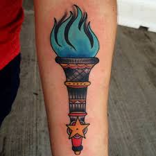 blue flame torch andy wiszowaty of bugaboo hammond in tattoos