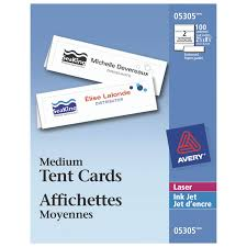 Avery Laser Business Cards Avery Medium Tent Cards Ave05305 100 Pieces Specialty Paper