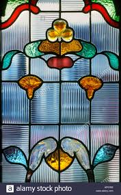 Stained Glass Door Panels by Close Up Front Door Panel Of Decorative Stained Glass In The Art