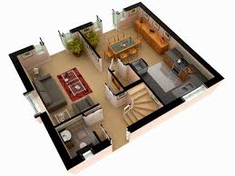3d 2 floor house plan gallery and bedroom plans designssmall