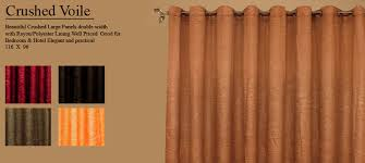 Orange Panel Curtains Sheer Panel Curtains Crushed Sheer Curtains Brilliant Drapery Shop