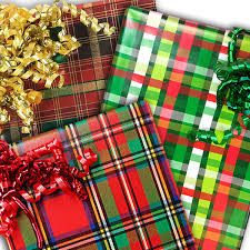 plaid christmas plaid christmas wrapping paper