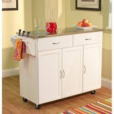kitchen islands with stainless steel tops target marketing systems large kitchen cart with stainless
