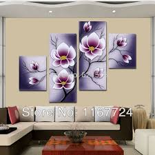 Plum Home Decor by 2016 Hand Painted Modern Wall Art Picture Living Room Home Decor