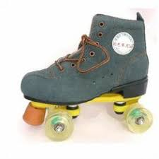 roller skates with flashing lights stylish solid pu wheel cow leather quad roller skates price 34 57
