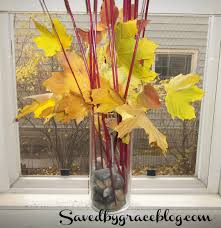 an easy dollar store fall centerpiece saved by grace
