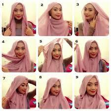 tutorial hijab pashmina kaos yang simple tutorial hijab pashmina sifon simple model baju dan rambut terbaru