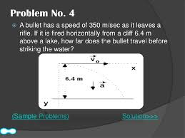 how far does a bullet travel images Projectile motion jpg
