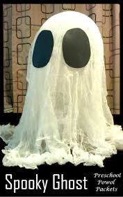 make a giant spooky ghost preschool powol packets