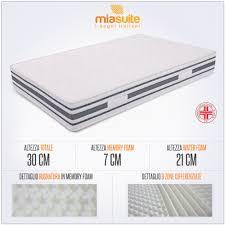 materasso piazza e mezza misure materasso memory una piazza e mezza alto 30 cm cabrio