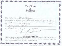28 free water baptism certificate template baptism certificate