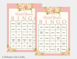wedding words for bingo 100 bridal bingo cards floral bridal shower bingo