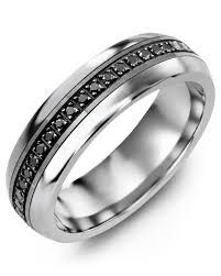 ss wedding ring eternity black diamond wedding ring madani rings