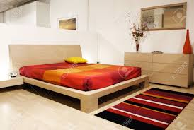 Modern Wood Bed Frame Fine Image Of Modern Wood Bed Room Stock Photo Picture And