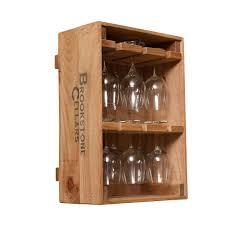 wine crate 12 wine glass holder wine barrel furniture