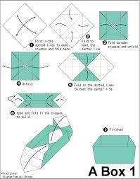 How To Make A Box With Paper - printable origami box how to make a origami box how