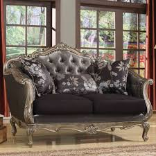 Acme Furniture Acme Furniture Chantelle Loveseat With 3 Pilllows In Antique