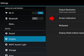 touch screen calibration apk miipc general support