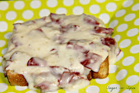 chipped beef gravy on toast sugar n spice makes everything nice