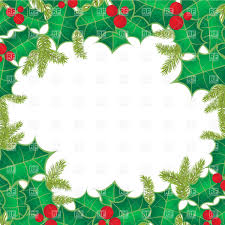 christmas frame of holly berry leaves vector image 21852 u2013 rfclipart