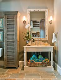 Wicker Space Saver Bathroom by Teakwood Open Bathroom Vanity Is A Space Saver Classic Room