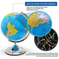 earth globes that light up amazon com 10 illuminated world globe for kids constellation