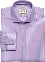1905 collection tailored fit cutaway collar stripe dress shirt