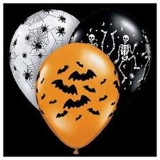 halloween balloons u2013 assorted design 11 u2033 latex u2013 10 pack only
