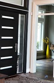 black modern front door with gold accents kylie m interiors