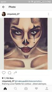 Halloween Face Paint Ideas Skeleton by 105 Best Halloween Makeup Images On Pinterest Costumes
