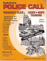Radio Frequency Reference Guide Radio Shack Police Call Frequency Guide 2001 Edition Volume 9