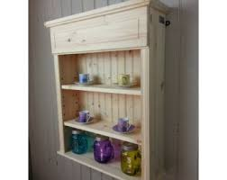Kitchen Wall Shelving Units Wooden Wall Shelf Spice U0026 Mug Rack For Kitchen Bathroom Or