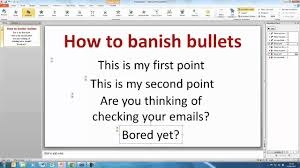 powerpoint how to create a bullet point template slide youtube