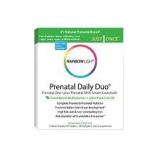 rainbow light prenatal one side effects rainbow light prenatal daily duo prental one dha 30 tab 30 sg