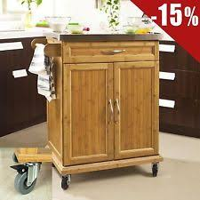 bamboo kitchen islands u0026 carts with shelves ebay