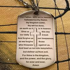 lord u0027s prayer necklace with a key ring u2013 isayitwithlove com