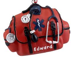 emt bag personalized ornament