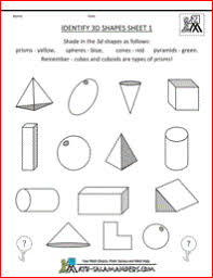 worksheet shapes range identify 3d shapes 1 a 3 d shapes worksheet to help identify a