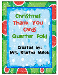 christmas thank you cards christmas thank you cards quarter fold by starsha malek tpt