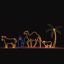 Outdoor Lit Nativity Scene by Outdoor Christmas Twinkling Tinsel Nativity Scene With Led Mini
