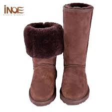 womens boots size 12 cheap plus size 4 12 sheepskin lined boots wool flat knee high