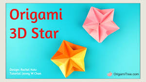 christmas crafts easy origami star 3d paper origami star