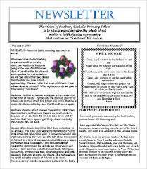 newsletter format 8 free word pdf documents download free