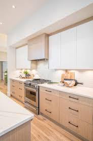 flat white wood kitchen cabinets houzz rg design vancouver home white oak kitchen flat
