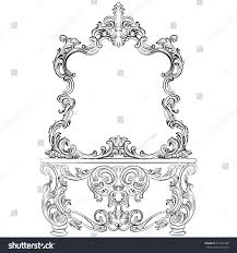 glamorous fabulous baroque rococo console table stock vector