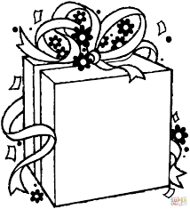birthday gift package coloring page free printable coloring pages