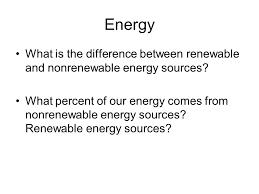 comparison between renewable and nonrenewable energy sources