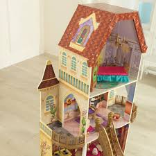 Patio Playhouse Beauty And The Beast by Disney Princess Belle Enchanted Dollhouse With 13 Accessories