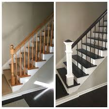 Railing Banister White And Gray Staircase With Wainscoting Built Ins Pinterest