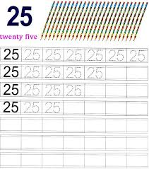 worksheet on number 25 matematika taman kanak kanak pinterest